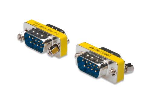 Seriell Rs-232 Gender Changer (DIGITUS D-Sub 9 Gender-Changer - Adapter - 9-Pin Kupplung - Stecker zu Stecker - RS-232 - RS-485 - TTL - Metallgehäuse)