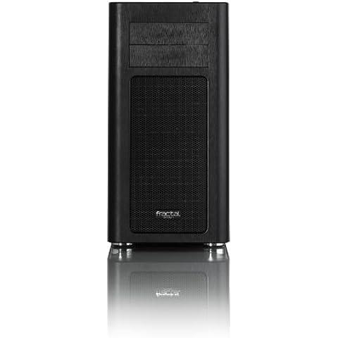 Fractal Design 115846 - Caja de disco duro (10 compartimentos internos y 2 frontales), negro