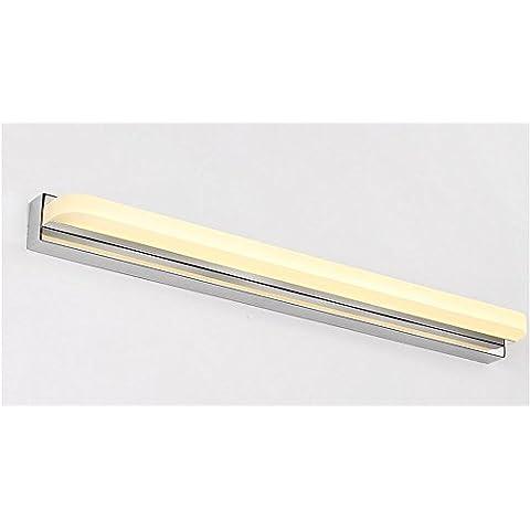 flashing lights- Moderno e minimalista specchio del bagno specchio mobile vanity fari a LED ( colore : Caldo , dimensioni : 52cm )