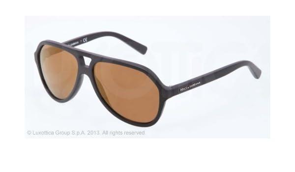 cfe40865e6 DOLCE & GABBANA Lunettes de soleil DG 4201 1934F9 Noir mat 57MM: Amazon.fr:  Vêtements et accessoires