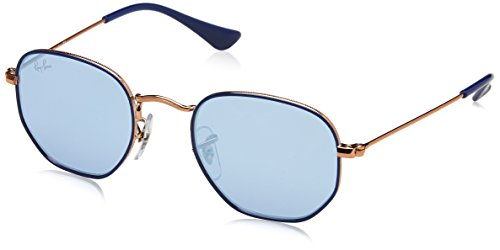 Ray-Ban Rayban Unisex-Kinder Sonnenbrille Rj9541sn 264/1u 44 Mm Copper Top Blue/Blueflashsilver, 44