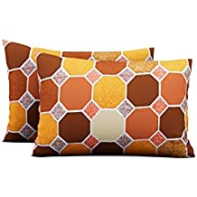 Urban Magic® 104 TC Pure Cotton 2 Piece Pillow Covers (Pack of 2, 44 cm*66 cm) (Yellow)