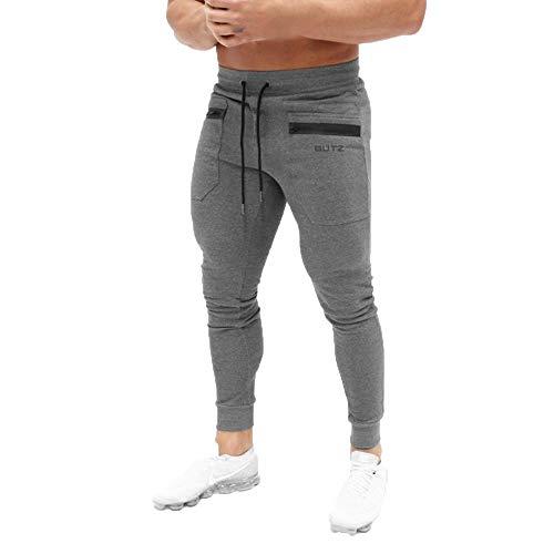 Epigeon Männer Reine Farbe Gedruckt Overalls Lässige Kordelzug Slim Fit Hosen Tasche Sport Arbeit Freizeit Elastische Taille Hosen Hosen