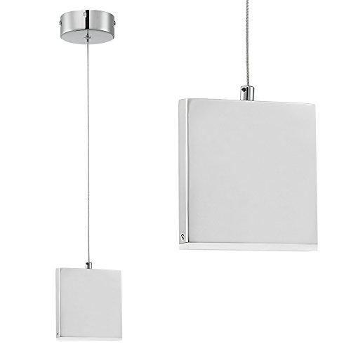 [lux.pro] LED Design Hängeleuchte Lampe Chrom Edelstahl Slim Line einflammig Neutralweiß