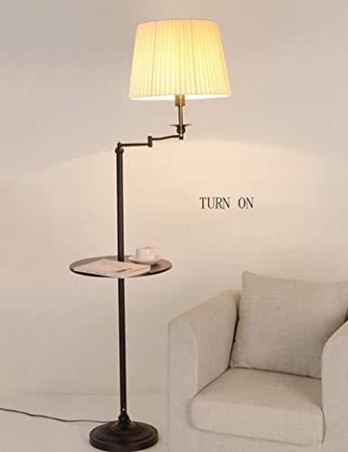 XHX Lampadaire, lampadaires verticaux pour abat-jour en tissu pour salle de séjour et salle de bain,4