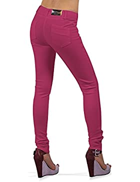 [Sponsorizzato]BORDERLINE - 100% Made in Italy - Pantalone Donna, Slim Fit, PAINT LINE W
