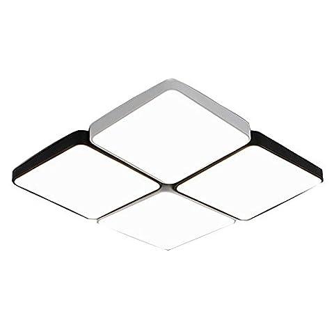 Living Square Plafonnier LED, Lampe de plafond créative moderne pour chambre à coucher, bureau, balcon