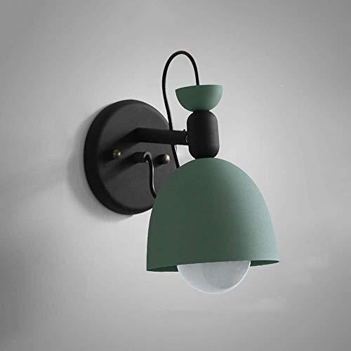 XYJGWBD LED-Wandleuchte, Beleuchtung Wand hängen Lampe Moderne minimalistische Wohnzimmer Wandleuchte Schlafzimmer Studie Nachttisch Leselampe (Color : Water Blue) -