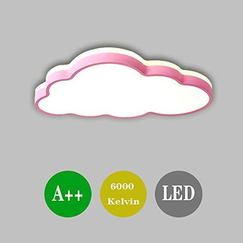 LED Deckenleuchte Cloud Top Light Kinder Deckenleuchte, Azanaz moderne Cartoon Kreativleuchte, geeignet für Jungen, Mädchen, Kinderzimmer - Spielzimmer. (360 ° Licht) (Rosa - weißes Licht) -