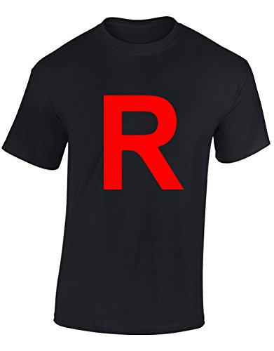Designs by The Crown R Team Rocket Logo Pocket Monsters Inspired for Men & Teenagers T-Shirts Tops