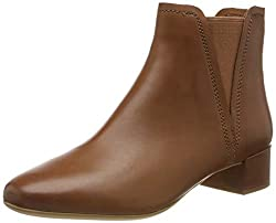 Clarks Damen Orabella Ruby Stiefeletten, Braun (Tan Leather Tan Leather), 42 EU