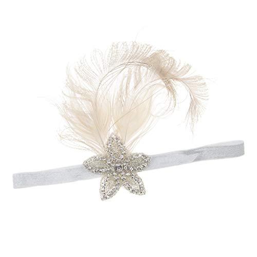 Fenteer Vintage 1920er Retro Kopfstück Flappers Haarschmuck Haarband Stirnband