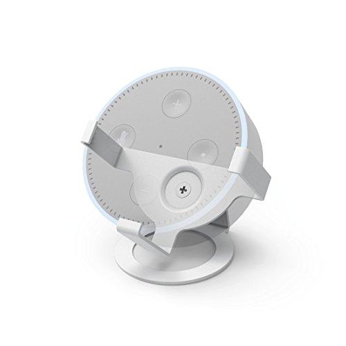 Hama Tisch-Ständer für Amazon Echo Dot, 2. Generation (zur optimalen Ausrichtung und Präsentation des Echo Dot) Lautsprecher-Ständer, Tisch-Halterung weiß
