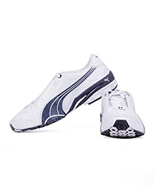 Puma Men's Tazon III DP White, New Navy and Puma Silver Running Shoes - 9 UK/India (43 EU)