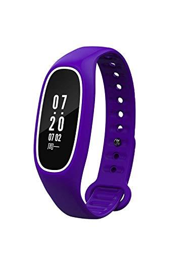 Weekendy Herzfrequenz-Blutdruck-Test-Schritt-Kalorien-Wasserdichte Sport-Uhr-Anruf-Anzeigen Schlaf-Entdeckungs-intelligentes Armband, Purpur-OneSize
