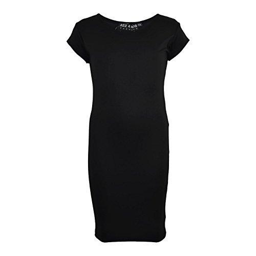 Mädchen Midi Kleid Kinder Uni Farbe Bodycon Sommermode Kleider New 5 6 7 8 Jahre 9 10 11 12 13 Jahre