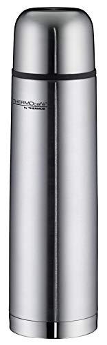 ThermoCafé by THERMOS 4058.205.100 Thermosflasche Everyday, Edelstahl mattiert 1,0 l, Drehverschluss mit Trinkbecher, BPA-Free
