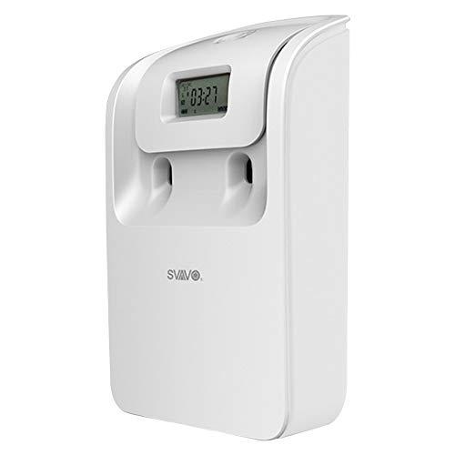Weehey Dispensador automático de espray para ambientadores Dispensador de Aerosol de Aerosol de Control de Olor automático montado en la Pared con Pantalla LCD para la Oficina de Hotel