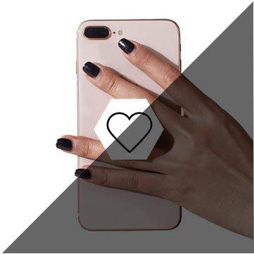 ZPZZJD Pop Phone Grip ausziehbarer Ständer Multifunktionaler Smartphone-Halter Universal Telefon Finger hands Socket Halterung - Weiß Herz (Diamant Donut-stil)