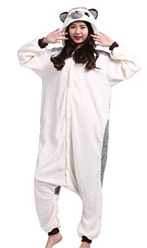 DELEY Unisex Erwachsene Onesie Pyjamas Igel Cosplay Halloween Karneval Kostüm Einteilige Nachtwäsche Größe ()