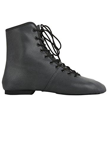 Bild von Rumpf 4125 Garde Karneval Folklore Tanz Stiefel Schuhe geteilte Gummisohle Farben schwarz und weiß