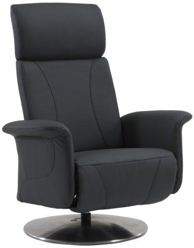 Sino-Living SE-813 Relax- und Ruhesessel in Dickleder, grau mit manueller Verstellung