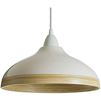 Natural bamboo pendant ceiling lampshade with gloss lacquer exterior natural bamboo pendant ceiling lampshade with gloss lacquer exterior cream large aloadofball Choice Image