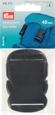 Newsbenessere.com 314Vbszxk-L Fibbia a clip per zaini, chiusura robusta, 40mm, nera