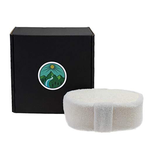 Luffa Schwamm für Dusche, Bad, Peeling, Massage und Körperpflege mit natürlichen und biologisch abbaubaren Stoffen, Rückenscrubber, Peelingpad aus Loofah
