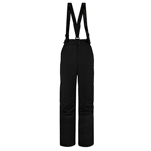 l Skihose mit Träger 5000 Wassersäule Warm Bequem Snowboard Hose schwarz XL (Snowboard Softshell)