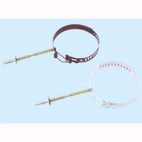 Collare Ferma Tubi Per Stufa Acciaio Smaltato Colore Biancho Da 8 A 14cm. R510