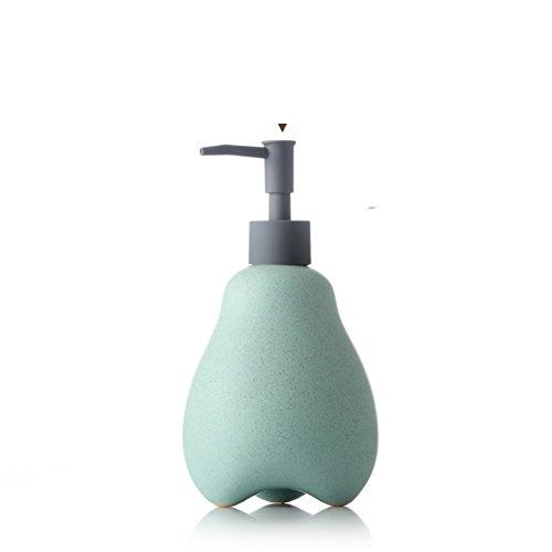 DULPLAY Keramikplatten Manueller Soap-Dispenser,(Anpassbare) Schaum Hand sanitizer Flasche Hotel Shampoo Box Leere Flasche 550ml -F 19.5x9.5x6.5cm(8x4x3inch) (Kaffee-pump Dispenser)