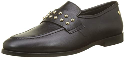 Tommy Hilfiger Damen Round Stud Loafer Slipper, Schwarz (Black 990), 42 EU