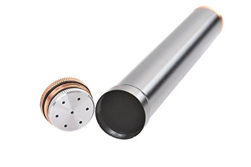 Tubo porta sigaro da viaggio in lega d'alluminio, 19,5cm x 2,5cm, nero, Mod. 5294-01