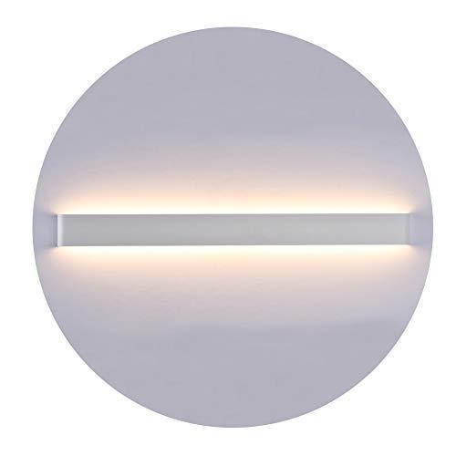 K-bright applique a led, illuminazione di design su e giù, applique da parete 83cm, impermeabile ip44,2700k-3000k bianco caldo, guscio bianco