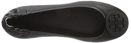 TORY BURCH minnie travel ballet with logo-soft nappa leather Nero