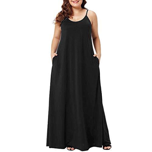 Vestidos Casual para Mujer Largos Verano Tallas Grandes 2019,PAOLIAN V