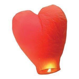 10 Farolillos Volantes Corazón rojos Linternas Voladoras - Sky Lantern Voladores
