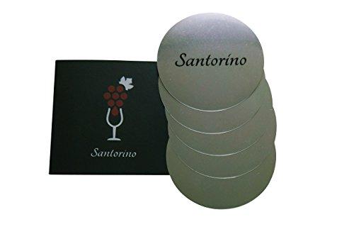 Santorino Non Drop Disc [5er Packung] Ausgießer für Weinflaschen ? Tropffreier Weinausgießer als Weinzubehör in Pappverpackung