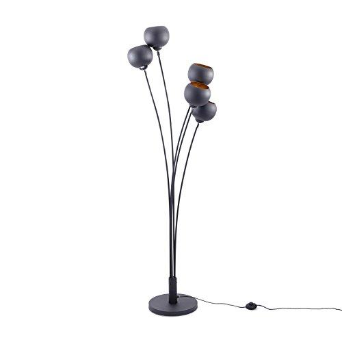 Moderne Design Stehlampe MAGMA 170cm schwarz gold Lampe Blattgold Optik Stehleuchte Wohnzimmerlampe - Stehleuchte Diffusor