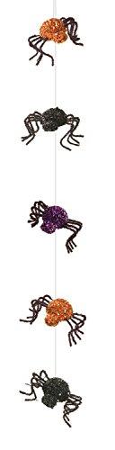 Mel Spider Lila Orange Schwarz 137,2cm Schaumstoff und Draht Halloween Party Girlande