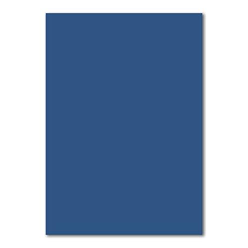 50x DIN A4 Papier Planobogen -Nachtblau - 110 g/m² - 21 x 29,7 cm - Bastelbogen Ton-Papier Fotopapier Bastel-Papier Brief-Papier - FarbenFroh®