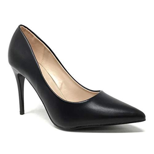Angkorly - Damen Schuhe Pumpe - Stiletto - Abend - Sexy - Basic Stiletto high Heel 9 cm - Schwarz B-78 T 37 9 High Heels