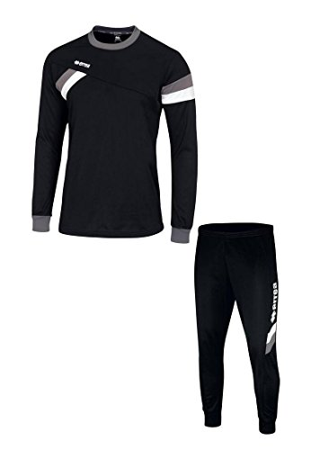 FORWARD Trainingskombination · SET aus Pullover und Hose Größe M, Farbe schwarz-anthrazit-weiß, Farbe schwarz - anthrazit - weiß
