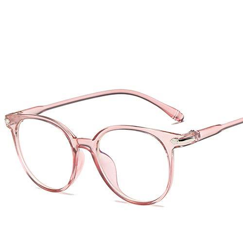 FANGUGF Flache Gläser Damen Herrenbrille Mit Rundem Gestell Damenbrille Mit Glatten Gläsern