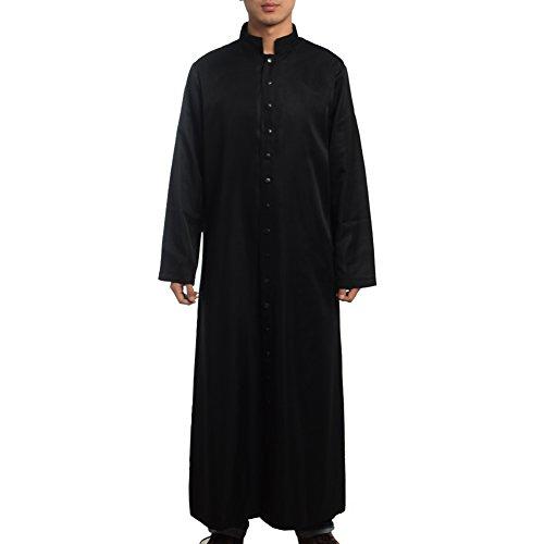 BLESSUME Römische Klerus Soutane (vier Größen,drei Farben) (schwarz, - Priester Soutane Kostüm