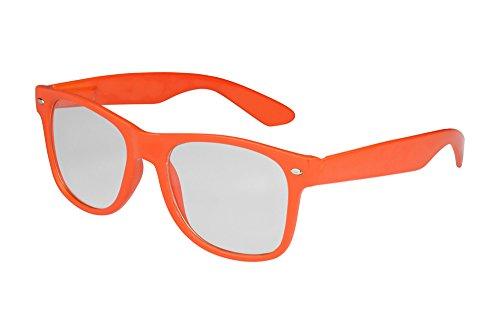 X-CRUZE 1-014 X01 Nerd Brille ohne Stärke Vintage Retro Style Stil Klarglas Hornbrille Modebrille...