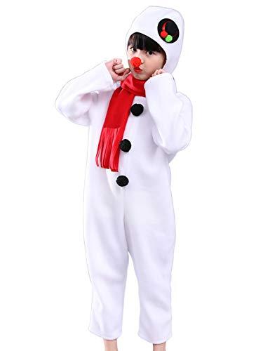 FStory&Winyee Weihnachten Familie Outfit Weihnachtskostüm Schneemann Kostüm Set -