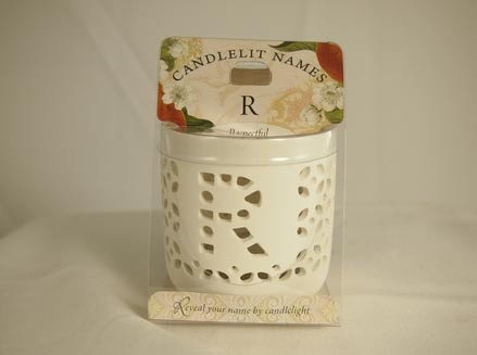History & Heraldry Candlelit Names - R - Tea Light Lite Candle 001850180-HH by History & Heraldry