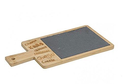 G. Wurm Tabla de quesos de Pizarra y bambú 36cm x18cm
